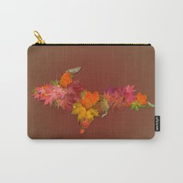 Upper Peninsula Of Michigan Maple Leaves Outline Carry-All Pouch