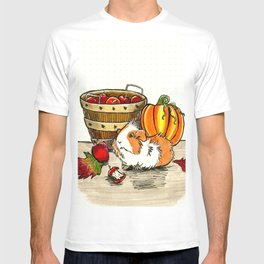 Autumn guinea pig with apples and pumpkin T-shirt