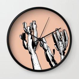 BLUSH CACTUS Wall Clock
