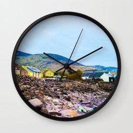 Costal Irish Village Wall Clock