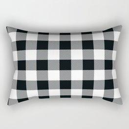 Buffalo Check Black White Plaid Pattern Rectangular Pillow