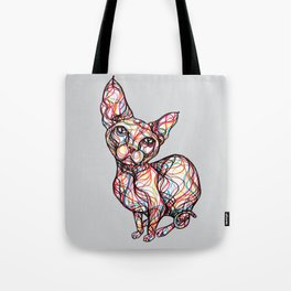 sweet cat line style - gatto dolce - chat doux - gato dulce Tote Bag