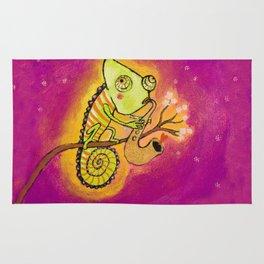 Chameleon in love Rug