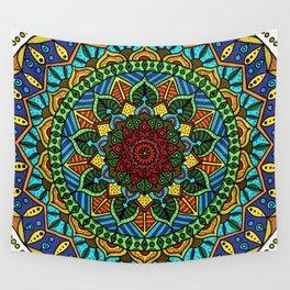 Circle of Life Mandala full color Wall Tapestry