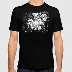 Poe vs. Lovecraft Black Mens Fitted Tee MEDIUM