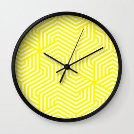 Café au lait - yellow - Minimal Vector Seamless Pattern Wall Clock