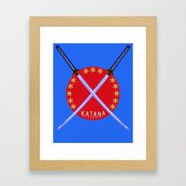 Katana Sword Design Framed Art Print