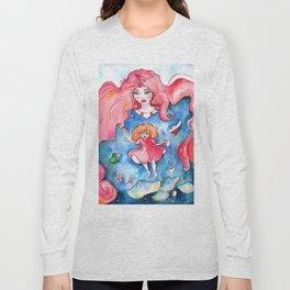 Ponyo Underwater Long Sleeve T-shirt