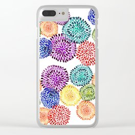 Dancing Dahlias Clear iPhone Case