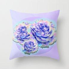 cyber_flowerz Throw Pillow