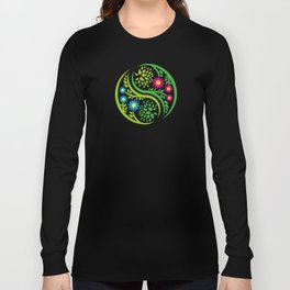 Yin Yang Flower Long Sleeve T-shirt