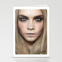 cara Stationery Cards featuring Cara by Anna Sun