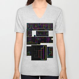 Random colorful lines Unisex V-Neck