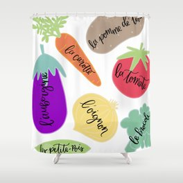 Les Legumes Shower Curtain