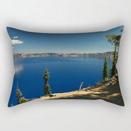 The Deep Blue Of The Crater Lake Rectangular Pillow