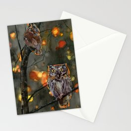 Eastern screech-owl Stationery Cards