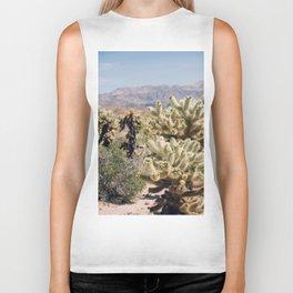 Joshua Tree Cactus Garden Biker Tank