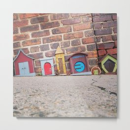 Tiny Houses in Asheville Metal Print
