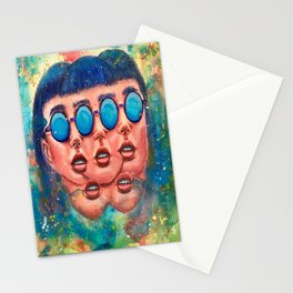 Groovy Perception Stationery Cards