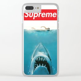 SUPREME X JAWS Clear iPhone Case