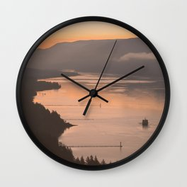 Pacific Northwest Sunrise - nature photography Wall Clock