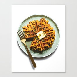 Pumpkin Waffles Canvas Print