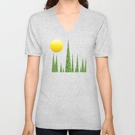 Evergreen Landscape Unisex V-Neck