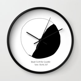 Black and White Cookie New York Wall Clock
