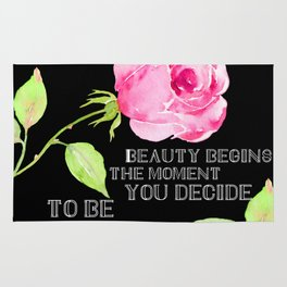 Beauty Begins The Moment You Decide To Be Yourself #society6 Rug