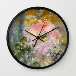 Evening Rose Wall Clock