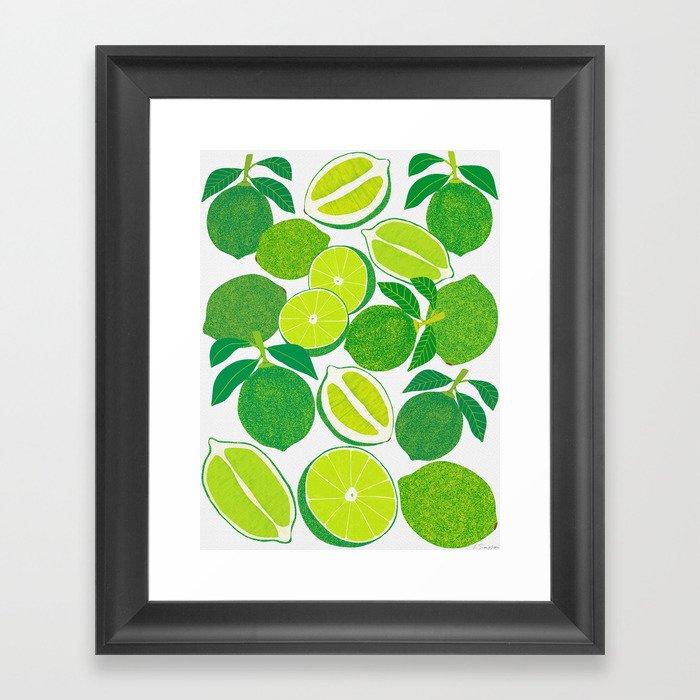 Lime Harvest Gerahmter Kunstdruck