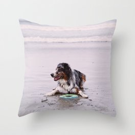 Coronado Dog Beach Throw Pillow