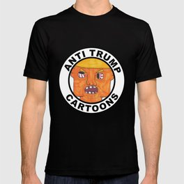 Anti Trump Cartoons Logo T-shirt