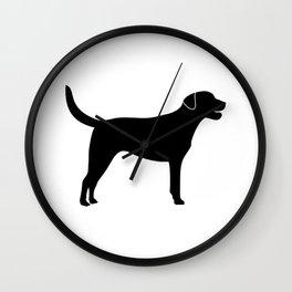 Black Labrador Retriever Silhouette #society6 #decor #buyart #artprint Wall Clock