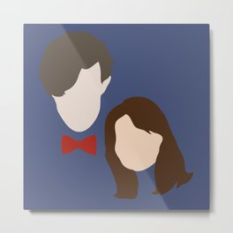 The Eleventh Doctor and the lovely Clara Oswin Oswald Metal Print