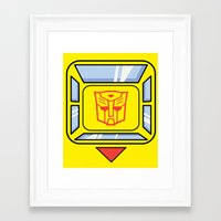 transformers Framed Art Prints featuring Transformers - Bumblebee by CaptainLaserBeam
