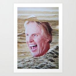 Busey Beach Art Print