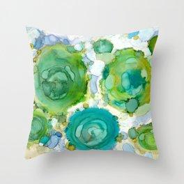 Water Moss Throw Pillow