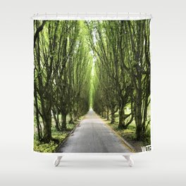 Let's take a walk, Vesterbro, Copenhagen Shower Curtain