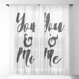 You And Me Sheer Curtain