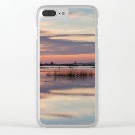 Sunrise over Biebrza river in Poland Clear iPhone Case