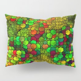 Artistic Cubes 01 green Pillow Sham