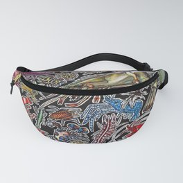 Prawns, gambas and shrimps for ocean lovers, marine biologists and scuba divers Fanny Pack