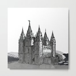 Salt Lake City Utah Temple Metal Print