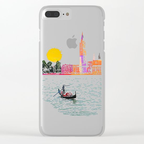 Sunset in Venice Clear iPhone Case