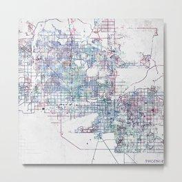 Phoenix map Metal Print