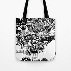 mind blown Tote Bag