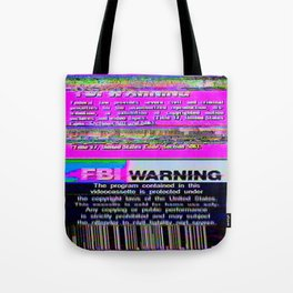FBI Warning Distorted Tote Bag