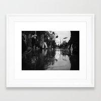 it crowd Framed Art Prints featuring crowd by Julia Aufschnaiter