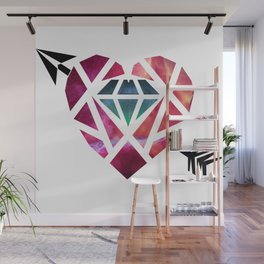 Heart Galaxy Wall Mural